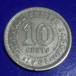Duit 10 sen.Malaya British Borneo