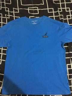 Nautica Printed Logo Shirt (Blue)