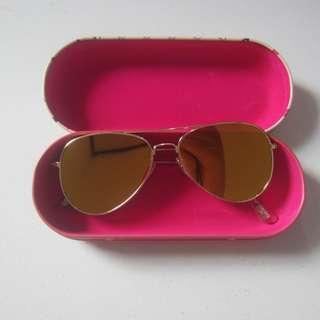 Mango sunglasses aviator + case