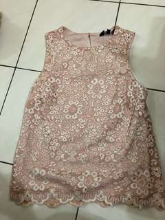 New look pink lace top