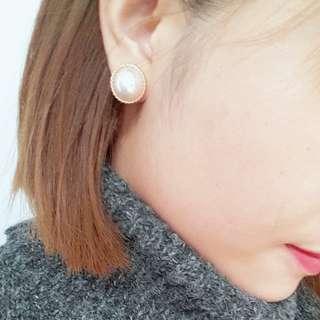 cats_日系 復古氣質知性珍珠耳環 / 現貨