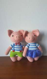 Cute couple pig big size