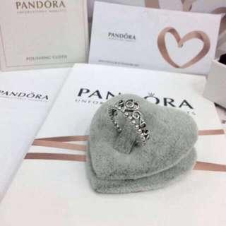 Pandora Princess Tiara Ring (Inspired Authentic Silver)
