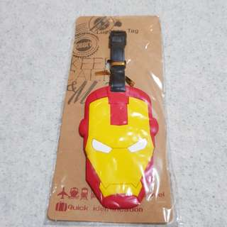 Iron man luggage tag