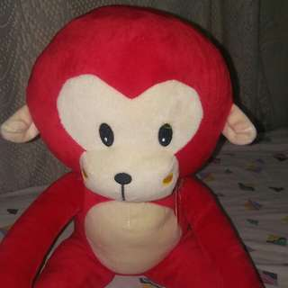Red monkey toy