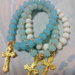 Crystal Rosary Bracelets