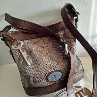 Fossil bucket crossbody