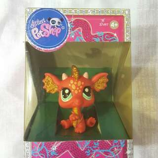 Littlest Pet Shop Sparkle Pink Dragon (Rare)