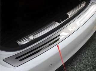Kia k3 rear bumper boot protector. Stainless steel.