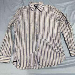 Gap Blue Striped Long Sleeve Shirt (L) - Repriced!