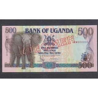 "(BN 0020) 1991 Uganda 500 Shilings ""SPECIMEN"" - UNC"