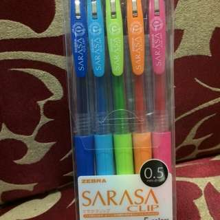 Sarasa 5 basic color pen