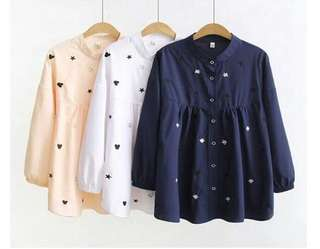 Blouse Navy ( New )