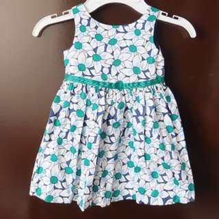 EUC Periwinkle Floral Dress 12 months