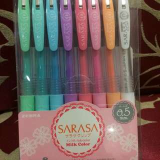 Sarasa milk 8 color set pen