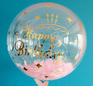 "Balloon Stickers for 18"" Bobo Clear Balloons"