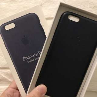 iPhone 6s leather case (midnight blue) 80%new