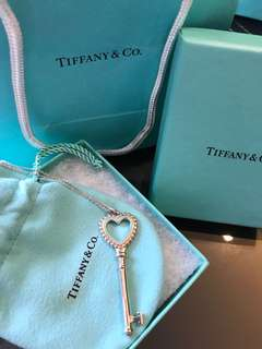 Tiffany Keys Beaded Heart Key Pendant, by Tiffany & Co
