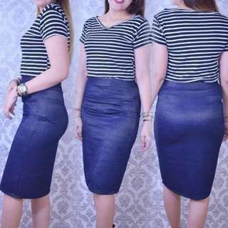 Classy terno skirt 350 actual pic