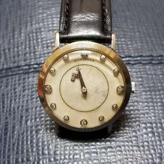 Longines 手上鏈 魔術錶 超稀少14k
