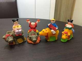 Vintage Auspicious Figurines (1990s)