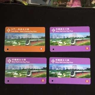 西鐵線 全日通 地鐵車票