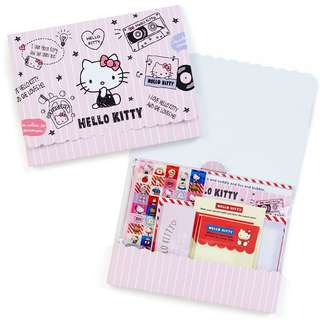 Sanrio 日本正版 Hello Kitty 信紙 信封 貼紙 Set