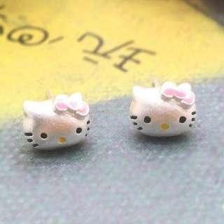 ㊣HeIIo kittyS925銀耳環$99/對