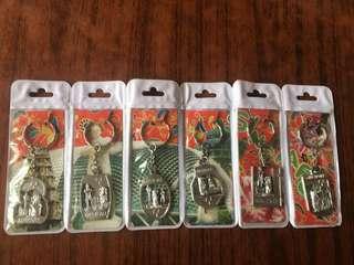 購自星加坡一套6個鎖匙扣