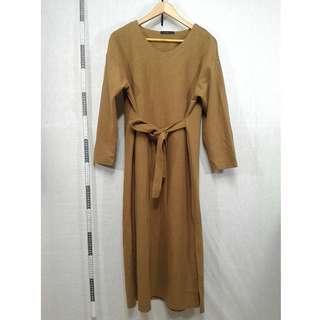 21118149-Meier.Q brown knitted dress棕色針織連身裙