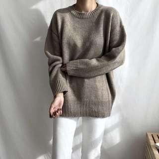 Nuhi 🇰🇷正韓卡其色羊毛毛衣 #換季五折
