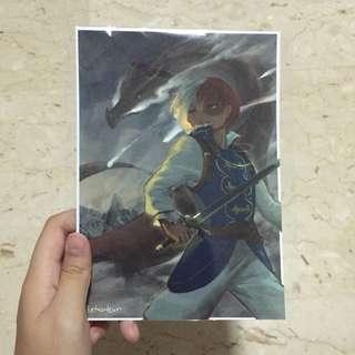 Boku no Hero Academia Todoroki Shouto Print