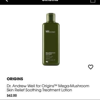 Origins mega mushroom skin relief lotion