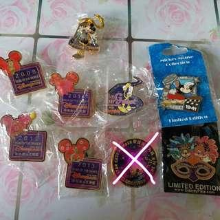 迪士尼pin徽章部份限量版,有2張圖