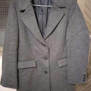 近全新 日本GU灰色大衣外套 沒吊牌