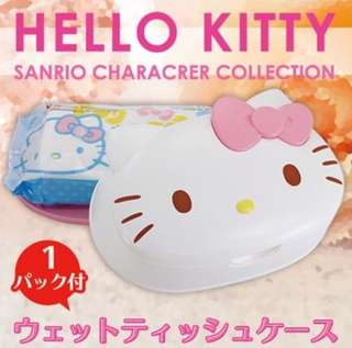 Sanrio Hello Kitty / Melody Wet Wipes Cover + LEC 99.9% Baby Wipes