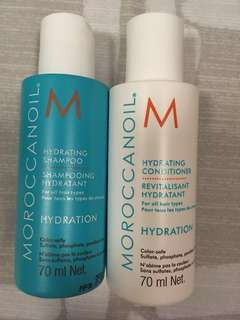 Travel size Moroccan Oil Shampoo and Conditioner