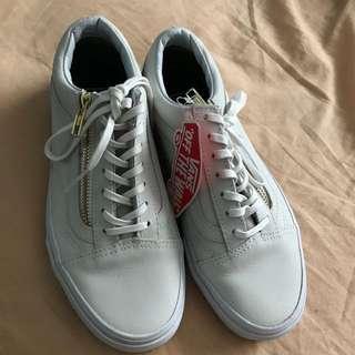 Vans Old Skool Zip White Leather