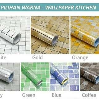 Wallpaper stiker khusus kitchen
