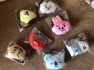 BT21 HEADBAND & HAIR TIE SET (Unofficial)