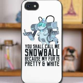 Snowball - Rick & Morty Iphone Casing (Black & White)