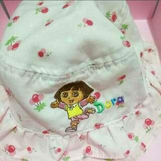 NICKELODEON 50女童夏季帽子8M-2Y🉑100棉粉色蝴蝶結