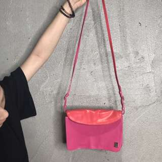 agnesb桃紅色小包