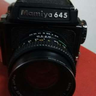 Mamiya 645 film medium format with 3 lenses