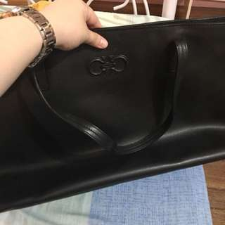 Original Salvatore ferragamo large black bag