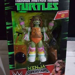 Playmates WWE TMNT Ninja Superstars Donatello as Ultimate Warrior
