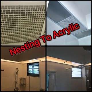 Acrylic panel bathroom / toilet