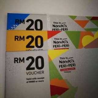 FREE!PERCUMA! Nandos RM20 voucher