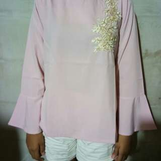New pink top embro
