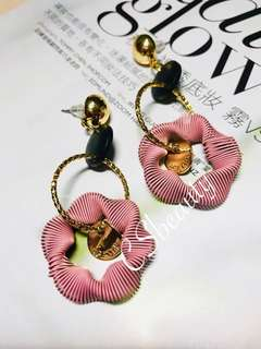 Korean style ladies pink Earrings 014